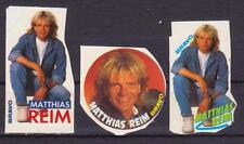 MATTHIAS REIM GERMANY MUSIC 3 RARE BRAVO SMALL VINTAGE OLD STICKERS R16355