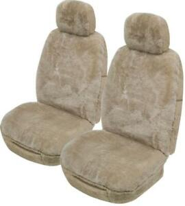 Romney Sheepskin Seat Covers 16Mm Airbag Safe (Pair) | Mocha