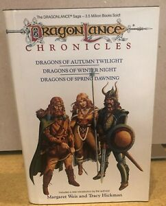Dragonlance Chronicles Complete Trilogy 1st Edition Hardcover Weis Hickman TSR