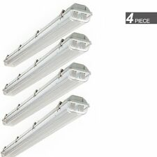 4X 36W 4Ft Vapor Proof Ip65 Led Garage Light Fixture With T8 Clear Tubes 6500K