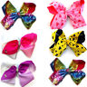 "Kids Girls Large Size Hair Bow Hair Clip Alligator Grosgrain  Ribbon Bows 8"" Bow"