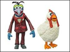 """MUPPETS SELECT SERIES 1 """"GONZO / CAMILLA"""" ACTION FIGURES (DIAMOND TOYS)"""