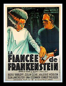 BRIDE OF FRANKENSTEIN ✯ CineMasterpieces ONLY ONE KNOWN FRENCH MOVIE POSTER 1935