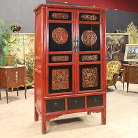Armadio in legno scolpito e laccato cinese mobile stile antico 900 cassetti ante
