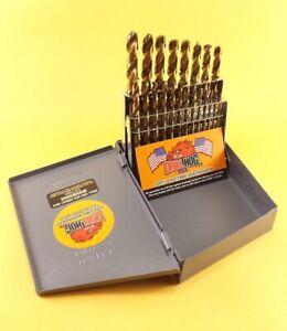Drill Hog® USA 21 Pc Jr Drill Bit Set Index COBALT M42 HSSCO Lifetime Warranty