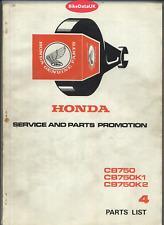 Honda CB750 K0 K1 K2 SOHC (69-72) Parts List Catalogue Manual Book CB 750 K DL54