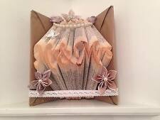"hand made ""mr and mrs"" book fold origami with flowers gems and ribbon* book art"
