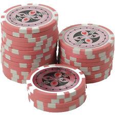 50 Pokerchips 13g Clay (Ton) Wert 5000 pink Metallkern Ultimate Poker Laser