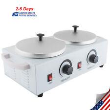 Pro DOUBLE Wax Warmer Electric Heater Dual Hot Facial Skin Care Equipment Spa US