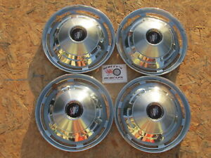 """1961-62 BUICK SPECIAL 13"""" WHEEL COVERS, HUBCAPS, SET OF 4"""