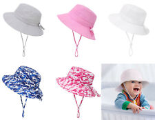 Summer Kids Baby Boys Girls Sun Protection Hat Fisherman Beach Sun Bucket Hat