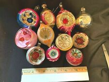 Antique Glass Christmas Ornament Lot