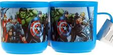 Set Of 2 Plastic Child's First Chunky Mug / Cup - Marvel Avengers