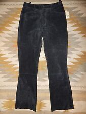 """Wilsons Maxim ~ Black Suede Leather ~ Size 10 ~ Lined Pants ~ 32"""" inseam   BNWT"""