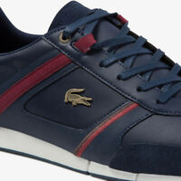 Lacoste Menerva 120 1 Mens Casual Blue Leather Trainers Sneakers 39CMA0007-5A5