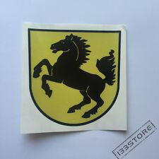 4'' Reflective Stuttgart Horse Car Decal Sticker Fit for Porsche Ferrari etc