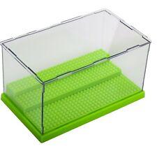Lego 3 Steps Minifigure Display Case Dustproof ShowCase Green Base