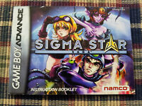 Sigma Star - Authentic - Nintendo Game Boy Advance - GBA - Original Manual Only!