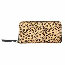 Sixtease Wallets Women - Hairon Leather Wallet - Leopard - 8x4 Inches