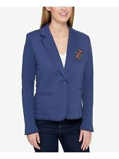 TOMMY HILFIGER $100 Womens New 1944 Navy Embellished...