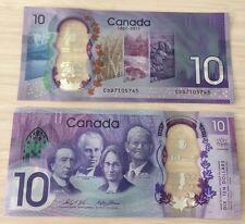 🍁🍁 Canada 2017 billets 10$ NEUFS UNC Nouvelle commémorative