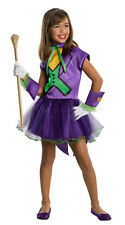 Girls Joker Tutu Costume Superhero Villain Costume Halloween Size Medium 8-10