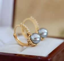 Vintage Jewellery Lever Back Earrings Pearl White Sapphire Antique Deco Jewelry