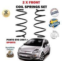 FOR FIAT PUNTO EVO SPORT 1.4 T-JET 1.3D MULTIJET 2007-> 2X FRONT COIL SPRING SET