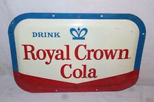"Vintage 1950's RC Royal Crown Cola Soda Pop 19"" Bubble Front Metal Sign"