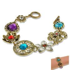 Unique Classical Hollow Flower Bracelet Cuff Wrist Retro Lady Fashion Jewelry