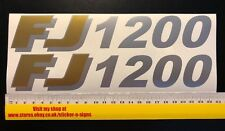 2x FJ 1200 Gold & Silver Sticker 230mm x 42mm Stickers Decal