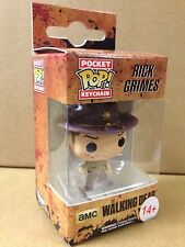 FUNKO POP! The Walking Dead Rick Grimes Blood Splatter EXC Vinyl KEYCHAIN Figure
