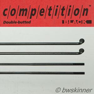 2x DT Swiss Competition Spokes. 274mm. Black. J-Bend.