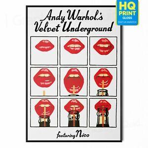 Andy Warhol The Velvet Underground Retro Poster Print Pop Art  A4 A3 A2 A1  