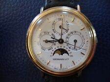 EBERHARD & Co LES QUANTIEMES Men's TRIPLE CALENDER Watch MOON PHASE .925