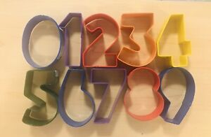 Numbers Cookie cutter Cake sugarcraft Biscuit icing Number 1 2 3 4 5 6 7 8 9 0