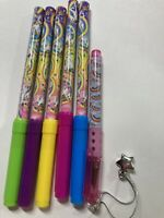 Lisa Frank Pink Glitter Pen And Five Markers RARE COLLECTIBLE STATIONARY