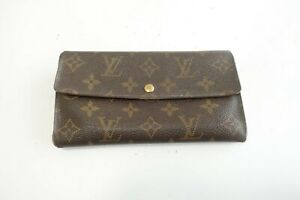 Authentic LOUIS VUITTON Portefeuille Sarah Monogram Brown Long Wallet  #10069