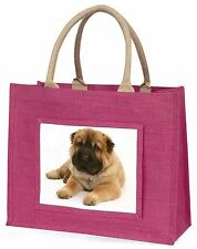 Bear Coated Shar-Pei Puppy Dog Large Pink Shopping Bag Christmas Pres, AD-SH2BLP