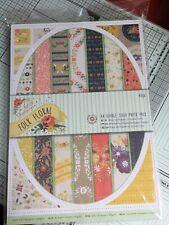"""Nuevo Lanzamiento: Stamperia entronca paquete de papel de 8 X 8/"""" Floral"""