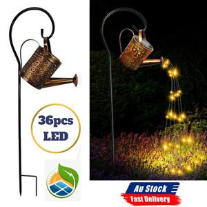 LED Solar Watering Can String Light Shower Outdoor Garden Art Tree Decor Lamp AU