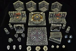 Dwarven Forge Master Maze MM-48 Catacombs 2 Set Resin D&D Tiles PAINTED NEW