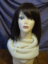 New Women Winter Warm feel Circle Cable Knit Cowl Scarf Soft Comfortable on neck