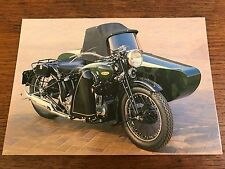 Vintage 1937 1000cc BSA Model G14 Sidecar National Motorcycle Museum Postcard