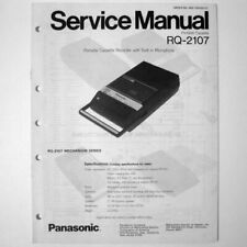 Panasonic ® RQ-2107 Cassette Recorder - Service Manual Schematics Parts Lists