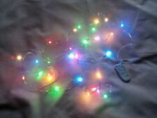 DOLLS HOUSE 20 MULTICOLOURED CHRISTMAS TREE FAIRY LIGHTS ( Batteries Included )