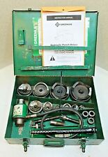 Greenlee 7310 Hydraulic Knockout Punch Set With Metal Case Tested