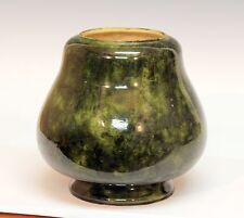 Antique Old Volkmar Arts & Crafts Art Pottery Vase Oil Lamp Base Metuchen NJ