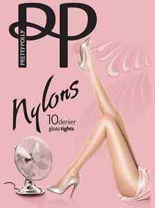 Pretty Polly Nylons 10 Denier Glossy Tights Various Colours - PNAF83