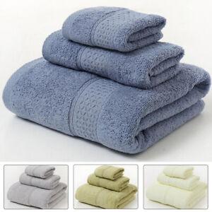 3pcs Bath Hand Face Towel Set Luxury Soft Cotton Face Hand Bath Bathroom Towels